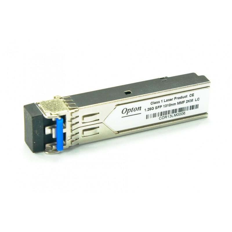 Modulo SFP OPTON 125G-MM-DF31-LC-D SFP Dual, 1.25Gbps, MM LC, 2km, TX1310, DDM