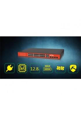 Switch 24 porte POE Passivo 24V + 4 porte combo  Giga e SFP