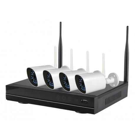 INNOTRONIK Wifi Kits 2Mpx - supporta 4 Canali - con 4 IPcam e NVR