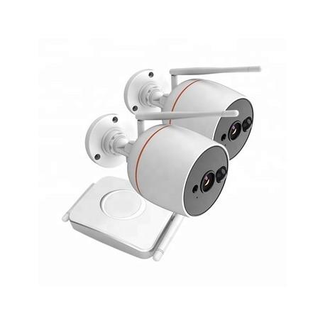 INNOTRONIK Mini Wifi Kits 2Mpx - supporta 4 Canali - con 2 IPcam - Plug and Play