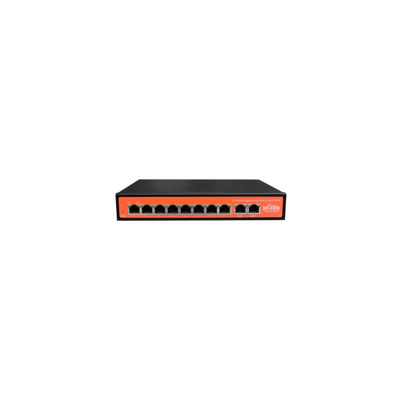 SWITCH POE FULL GIGABIT 48V 802.3AF/AT 8 PORTE