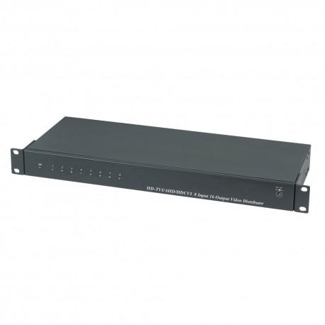 Distribuitore video HDCVI/HDTVI/AHD/CVBS da 8 entrate BNC a 16 uscite BNC
