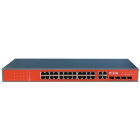 SWITCH 24 PORTE POE 48V - 10/100 + 4 porte Gigabit Combo SFP