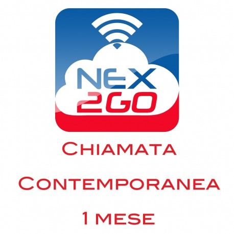 NEX2GO CLOUD PBX ADDON PER 1 CHIAMATA CONTEMPORANEA durata 1 MESE
