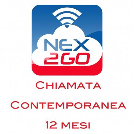 NEX2GO CLOUD PBX ADDON PER 1 CHIAMATA CONTEMPORANEA durata 12 MESI