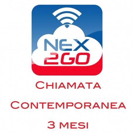 NEX2GO CLOUD PBX ADDON PER 1 CHIAMATA CONTEMPORANEA durata 3 MESI