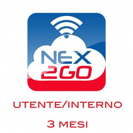 NEX2GO CLOUD PBX ADDON PER 1 UTENTE/EXTENSION durata 3 MESI