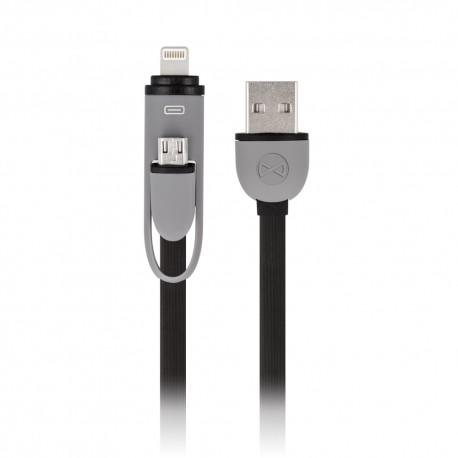 Cavo 2in1 USB - Lightning + microUSB