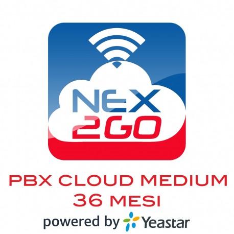 NEX2GO CLOUD PBX MEDIUM, 10 Utenti/Extension, 5 Chiamate Contemporanee