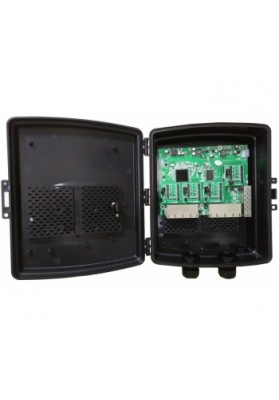 SWITCH 16 PORTE GIGABIT + 2 SFP Reverse POE + box da esterno IP67