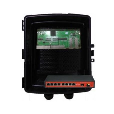 SWITCH 8 PORTE GIGABIT + 2 SFP Reverse POE + box IP67