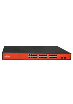 SWITCH 24 PORTE POE IEEE 802.3af/at  GIGABIT + 2 SFP - gestito