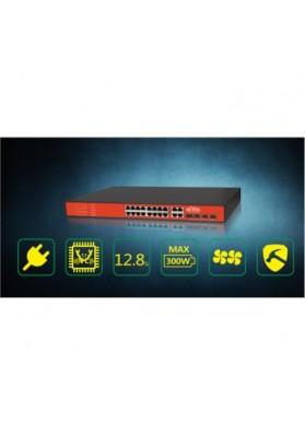 Switch 16 porte POE Passivo 24V + 4 porte combo  Giga e SFP