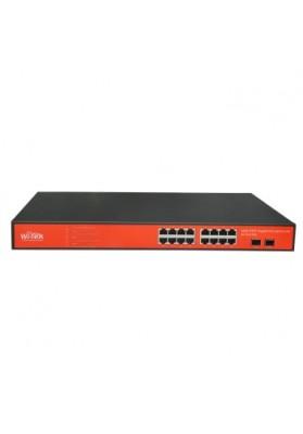 Switch 16 porte Giga di cui 15 POE Passivo 24V + 2 porte SFP